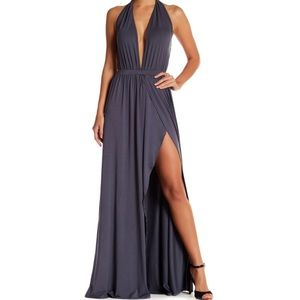 5be99be75b Go Couture Dresses - V-neck Plunging Maxi Dress